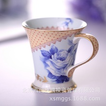 Ceramic glaze mug delicate blue and white porcelain creative gifts  coffee cups large cup