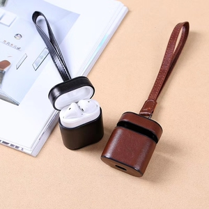 Image 2 - Luxury Leather Case For Airpods PU + PC Cover Cases For Air Pods Bluetooth Earpods Earphone Leather Protective Skin DropShipping