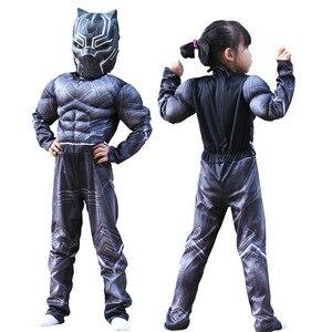 Детский костюм «Черная Пантера» для костюмированной вечеринки в стиле «Гражданская война», «Американский капитан», «супергерой», нарядное...