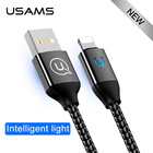 For iphone cable Usb USAMS Light Charging Cable charger cables IOS 10 11 Fast Charger Date lighting Cable For iphone 6 7 8 X