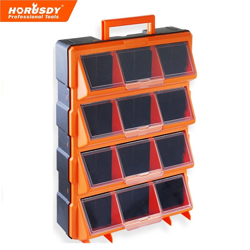 New 12 Bins Storage Cabinet Tool Box Chest Case Plastic Organizer Toolbox Bin laoa colorful folded tool box work box foldable toolbox medicine cabinet manicure kit workbin for storage
