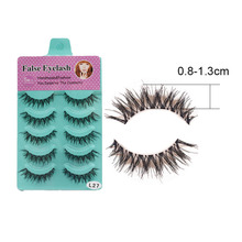 5 pair/set False Eyelashes Black Cross Fake Eye Lashes Natural Long Makeup Eyelash Extension Fake Eyelashes Non Magnetic Lashes недорого