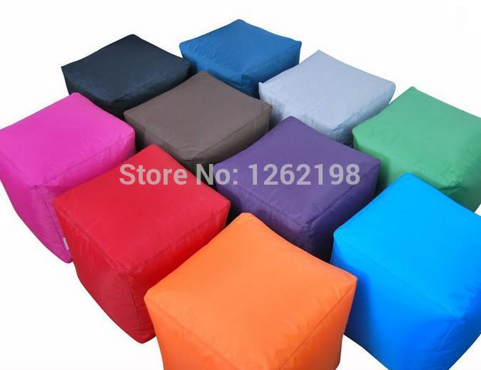 Astounding Assorted Colors Available Square Bean Bag Ottomans Comforty Bralicious Painted Fabric Chair Ideas Braliciousco