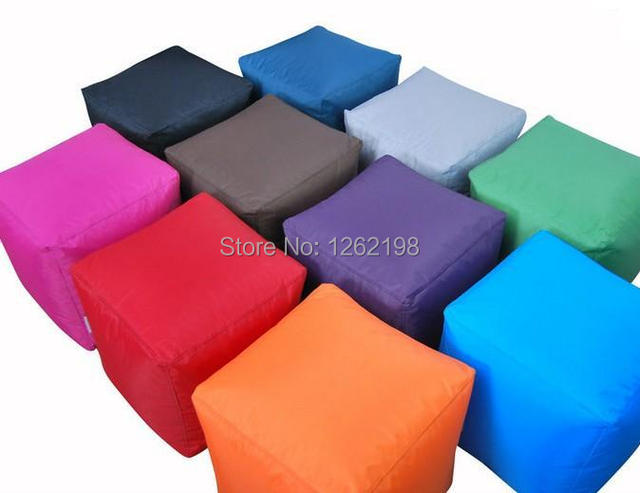 Amazing ASSORTED COLORS AVAILABLE Square Bean Bag Ottomans, Comforty Beanbag Chair  Or Stools   Free Shipping