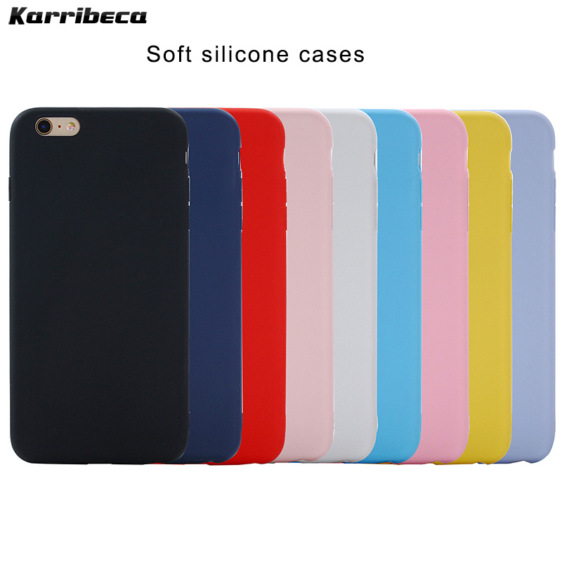 Soft candy color silicone case For Iphone 5 se 6 s 7 8 plus x xr xs  iphone 11 pro max cases cover covers kryt etui hoesje tok
