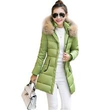 Tengo Зима Новый Женщины Длинные Хлопка-ватник Пальто Тонкий Теплый И Пиджаки