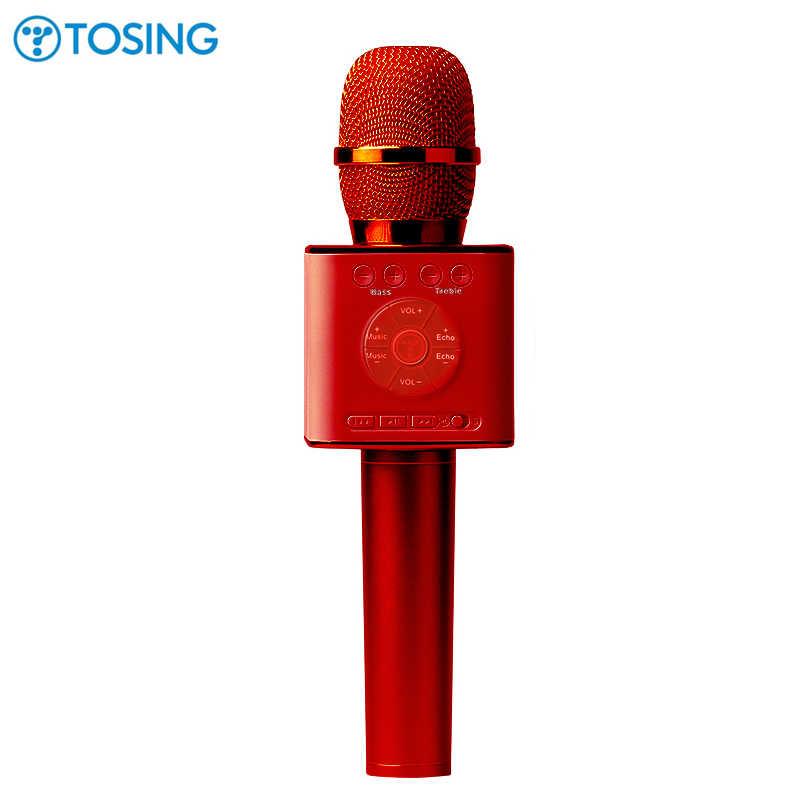 268b1f505290 Оригинальный бренд петь Q9 04 беспроводной микрофон караоке Bluetooth  Динамик 2-в-1 ручной