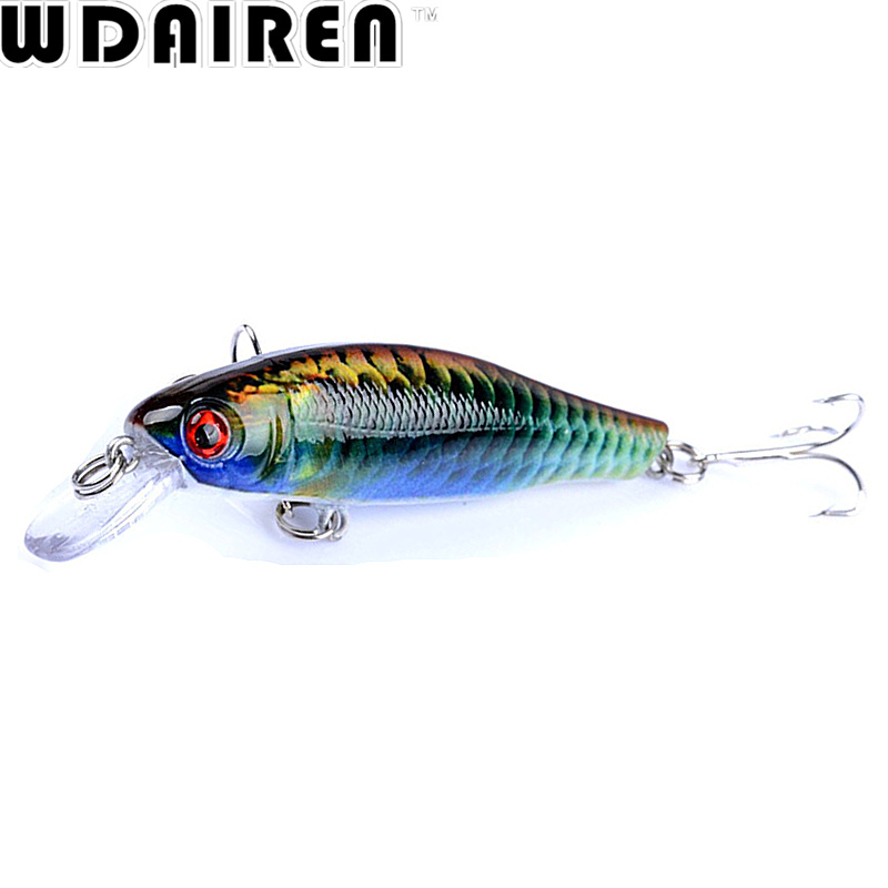 WDAIREN 1Pcs 8.5cm 8.7g Minnow Fishing Lure Fish Wobbler Tackle Artificial Japan 6# Hooks Hard Bait Crankbait Swimbait WD-381 tsurinoya fishing lure minnow hard bait swimbait mini fish lures crankbait fishing tackle with 2 hook 42mm 3d eyes 10 colors set