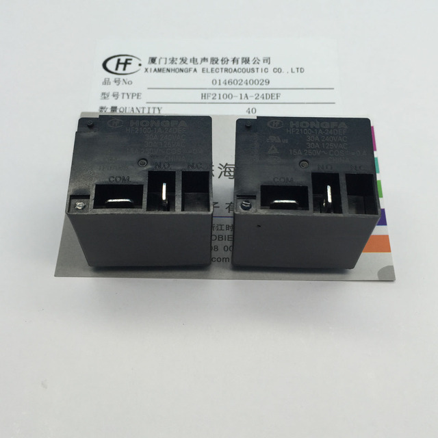 Free Delivery. The relay HF2100 1 a 24 24 VDC def a set of normally ...