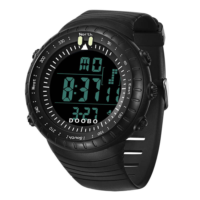 Fashion Outdoor Waterproof Large Dial Sports Digital Military Watches Men Fashion 50M Dive Swim Luminous LED Light Wristwatches