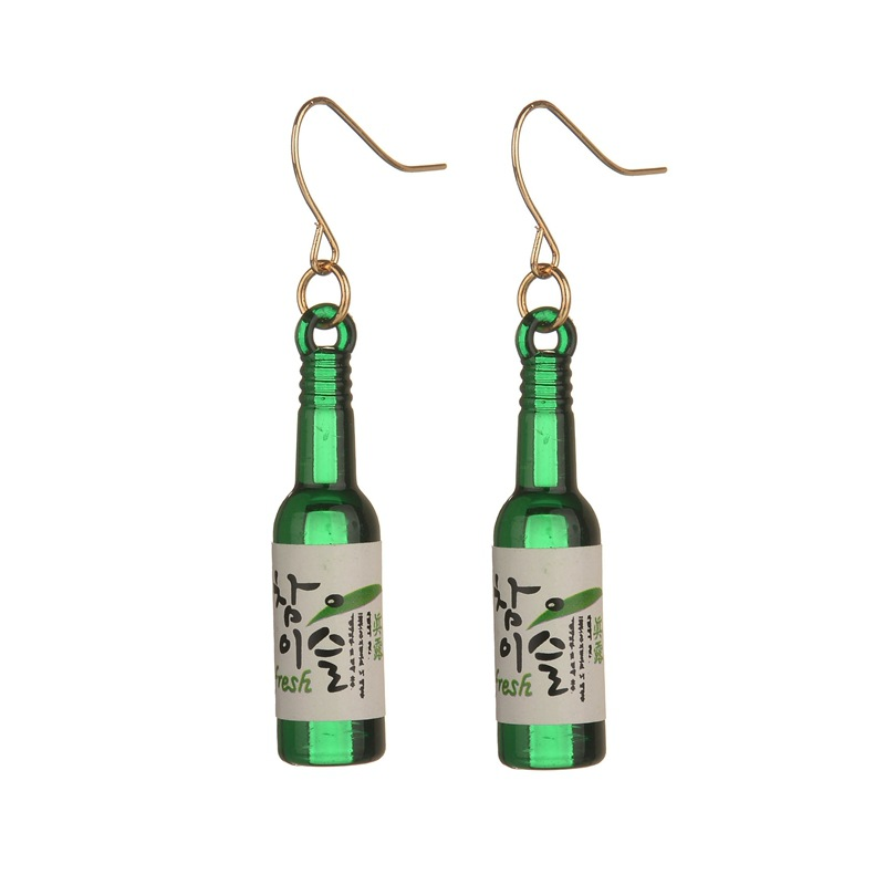 Fashion Cute Fun Resin Fake Glass Beer Earrings Cute Handmade Earrings Womens Jewelry 1