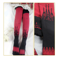 Gothic Women S Long Stockings The Great Church Series Knitted Stockings By Yidhra
