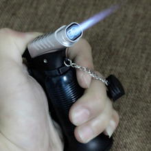 Two Nozzle BBQ Cooking Welding Torch Lighter Butane Jet Gas Lighter Turbo Portable Spray Gun 1300 C Windproof Cigar Pipe Lighter