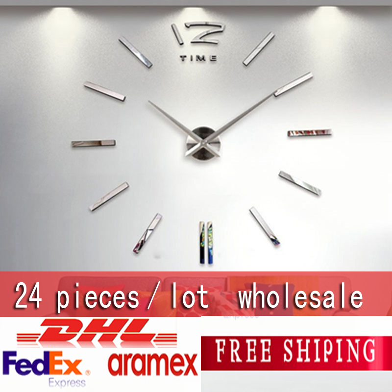 Wholesale 3d Big Size Home Decor Quartz Diy Wall Clock