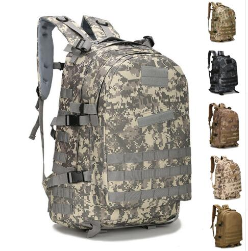 45L Large Capacity Molle Tactical Backpack Army Military Assault Bags Outdoor Hiking Trekking Hunting Camping Bag Camouflage