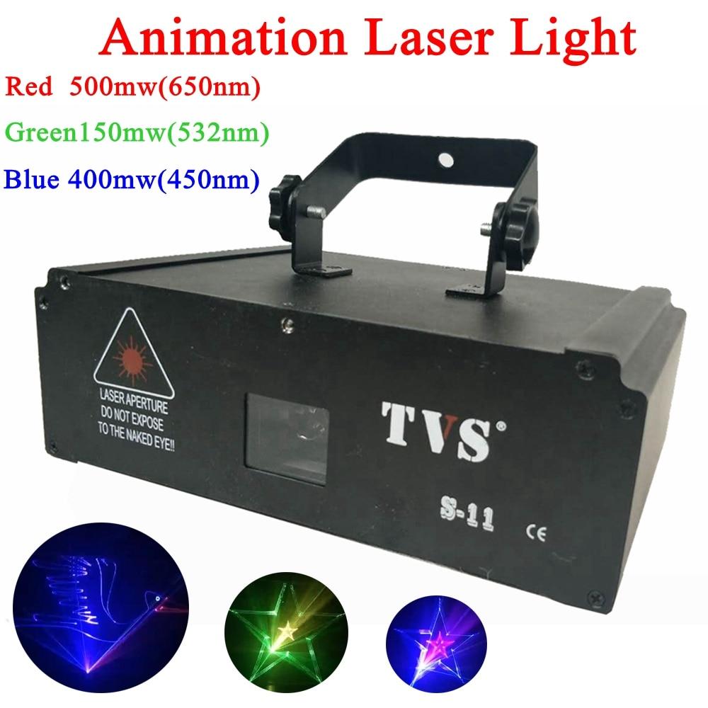 Coloré 1 w Animation Projecteur Laser Disco Pub graphiques Laser Projecteur Dj Musique Bar Stage Show Animation Laser Projecteur