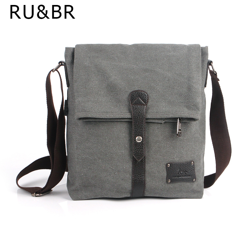 RUBR Retro Men Canvas Messenger Bags Crossbody Bag Man Bags Single Shoulder Bags For Men Casual Handbags Sacoche Homme