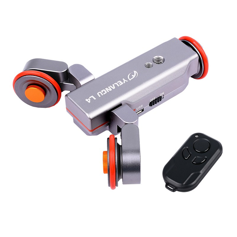 YELANGU Moving Camera Accessorry 3-Wheel Dolly II Pulley Car Dolly Slider Wheel with Wireless Control for DSLRCamera Smart Phone adearstudio stands tripod truckings 22mm newest camera tripod dolly 2016 3 wheel moving dolly cp50 tripod wheel for camera