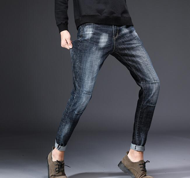 Design Men's Casual Stretch Spring Thin Jeans 1