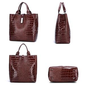 Image 3 - Новый роскошный костюм из 3 предметов, женская сумка, большая Вместительная женская сумка, ретро сумки на плечо, женская кожаная большая сумка тоут с сумкой через плечо