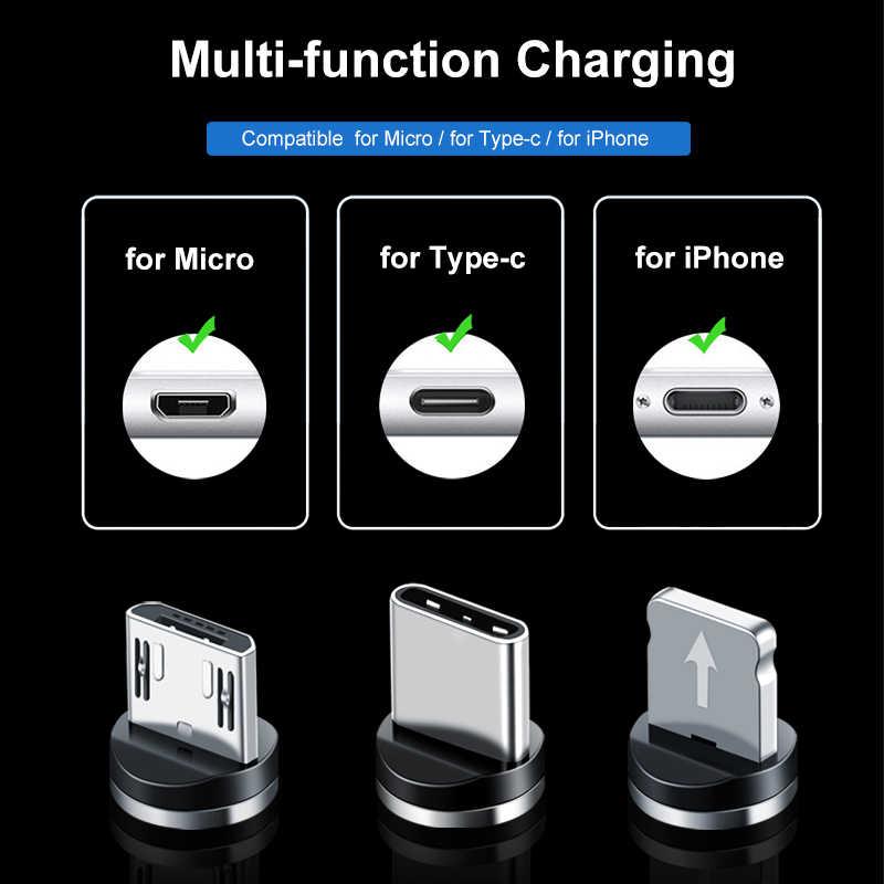 Magnetyczny kabel USB typu led C kabel Micro USB szybkie ładowanie dla Apple iphone X 7 8 6 Xs Max XR Samsung s9 S8 kabel do telefonu