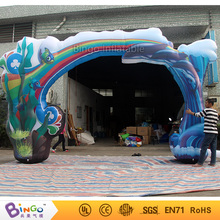 inflatable model toy 6m ocean sea series inflatable ocean shark arch with full print arch for adversting