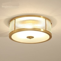 Bronze Ceiling Lamp European Style LED Living Room Atmosphere Simple Restaurant Balcony Study Ceiling Light ZA620 ZL188 YM