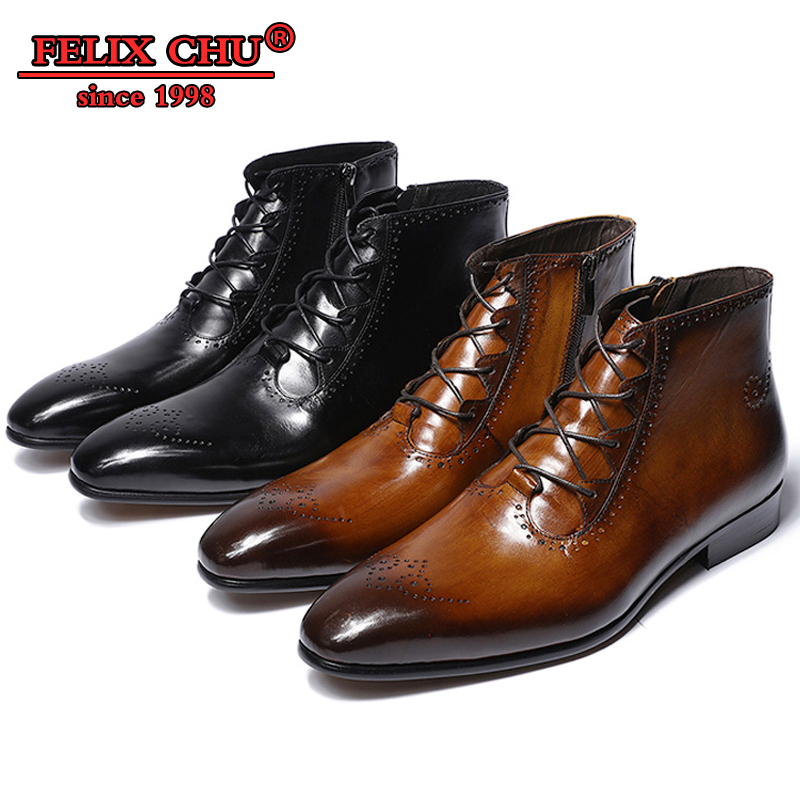 NEW FASHION LUXURY DESIGN GENUINE LEATHER MEN ANKLE BOOTS HIGH GRADE TOP ZIP LACE-UP MEN DRESS SHOES BLACK BROWN BASIC BOOTS MENNEW FASHION LUXURY DESIGN GENUINE LEATHER MEN ANKLE BOOTS HIGH GRADE TOP ZIP LACE-UP MEN DRESS SHOES BLACK BROWN BASIC BOOTS MEN