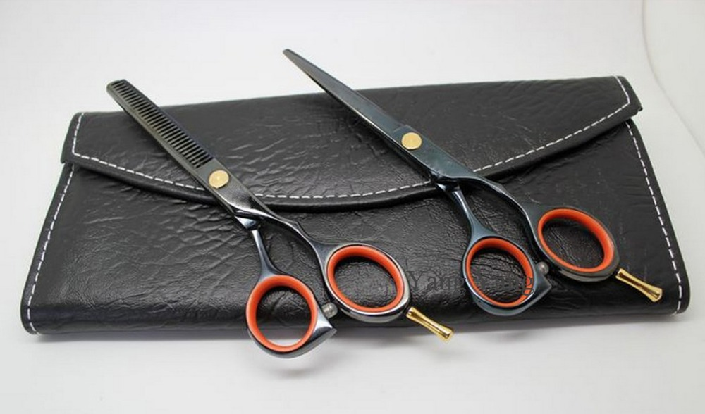 Professional Tungsten Steel Hair Dressing Scissors Set Straight & Thinning Cutting Barber Shears 5.5 Inches  S011