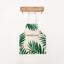 Cooking Green Leaves Printed Cotton Aprons