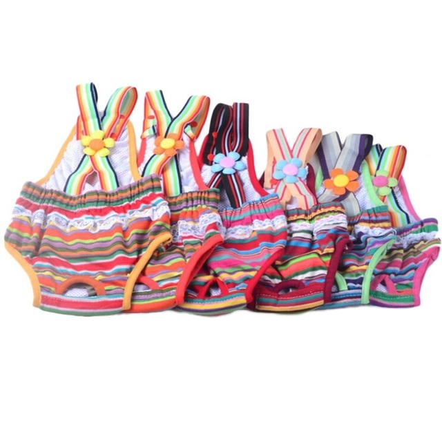 Pet Cotton Sanitary Panties Underwear Shorts Diapers Bubble Skirt Appearance Design for Small & Medium-sized Dogs Pet