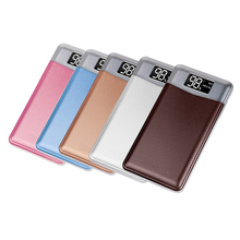 For Xiaomi Mi Power Bank 20000mAh Portable Charger Dual USB External Battery Pack Charger Ultra Slim Powerbank For Mobile Phones 20000mah ultra thin slim led display power bank portable external phone battery dual usb output powerbank for mobile phone