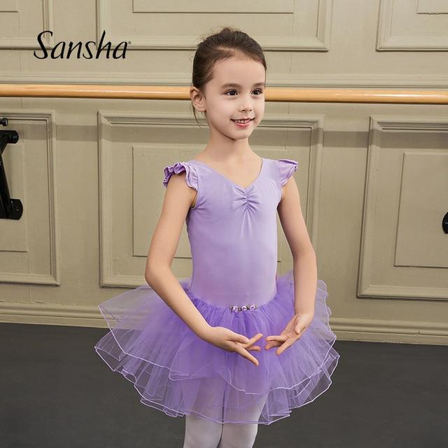6f98bd9c5 Sansha Kids Romantic Practice Tutu Children Dancewear Stage Tutu Ballet  Leotards For Girls DF1603