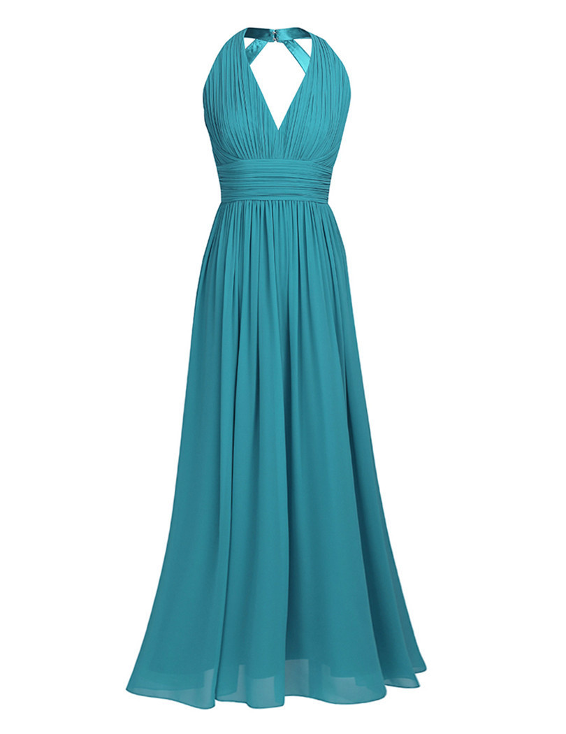 TiaoBug Long Bridesmaid Dresses Black Navy Blue Teal Burgundy ...