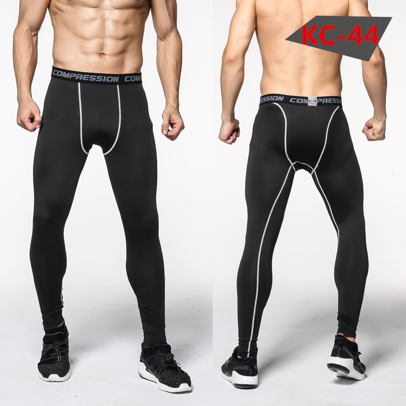 Men Compression Highly Elastic Fitness Basketball Pants Sports Tights Running Trousers Cross fit Pants Bodybuilding Pants