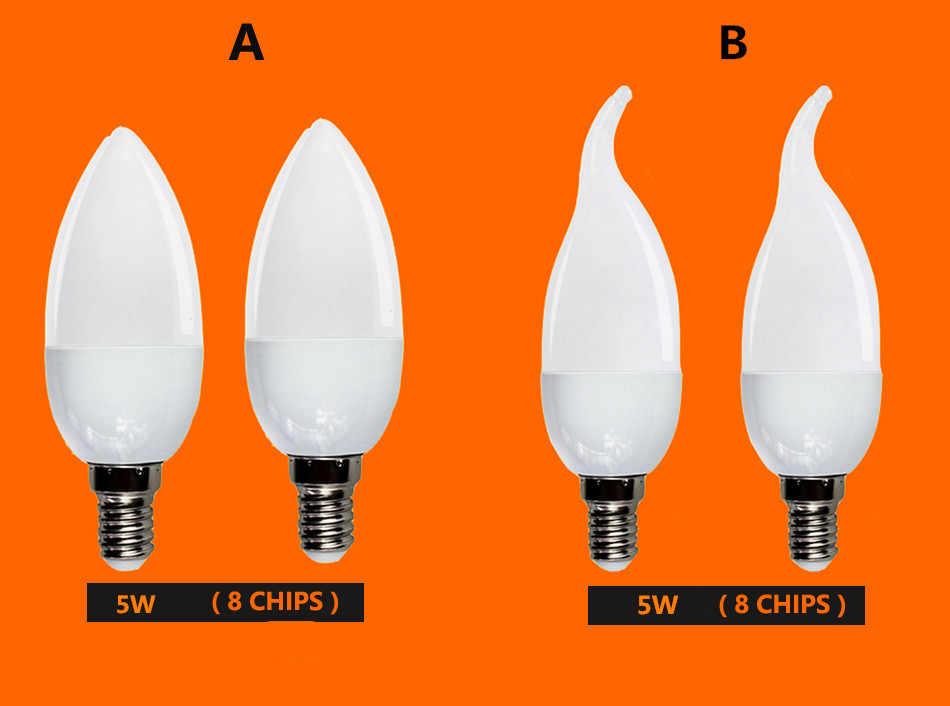 1X LED Candle Bulb E14 Energy Saving Light Bulb Lampada 5W 9W 220V Bombillas Led Spotlight for Home Decoration E27 led lighting