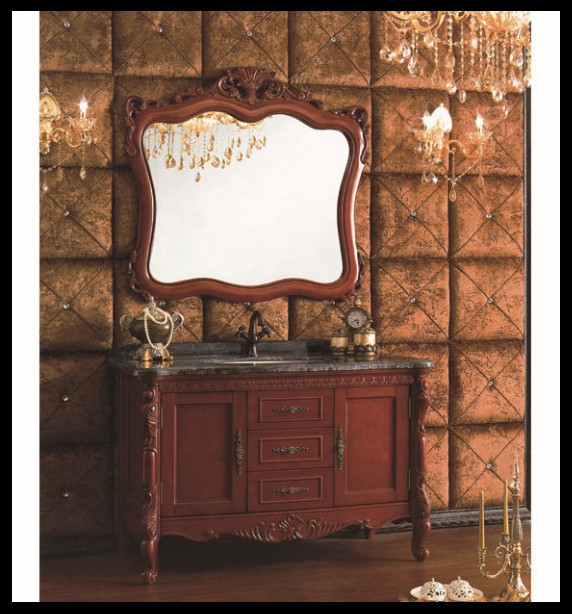 Country Style Classical Ancient Bathroom Single Vanity