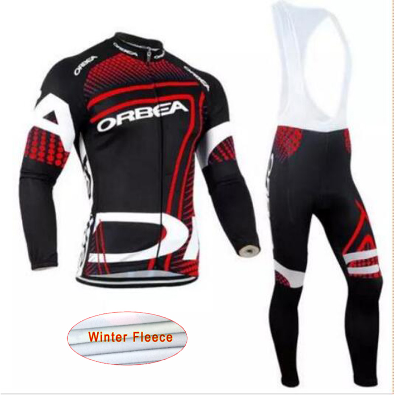 2017 New Orbea Winter Thermal Fleece men's Cycling Jersey bicycle Long Sleeve Clothing suit racing Bike Wear ropa Ciclismo E1706 black thermal fleece cycling clothing winter fleece long adequate quality cycling jersey bicycle clothing cc5081