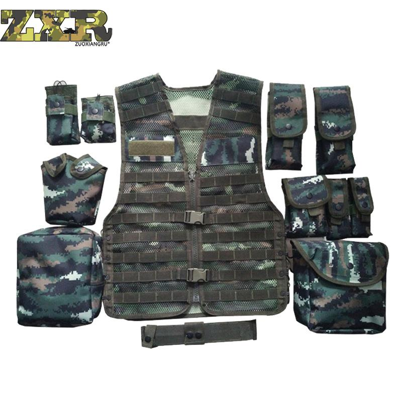 Unloading Men Multi-pocket Tactical Camouflage Vest Camo Tactical Vest Army Combat Uniform Military Hunting Waterproof Vest lurker shark skin soft shell v4 military tactical jacket men waterproof windproof warm coat camouflage hooded camo army clothing