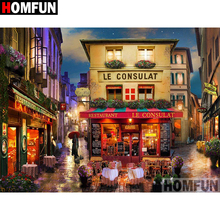 HOMFUN 5D DIY Diamond Painting Full Square/Round Drill Town scenery 3D Embroidery Cross Stitch gift Home Decor Gift A08195 homfun 5d diy diamond painting full square round drill woman scenery embroidery cross stitch gift home decor gift a09203