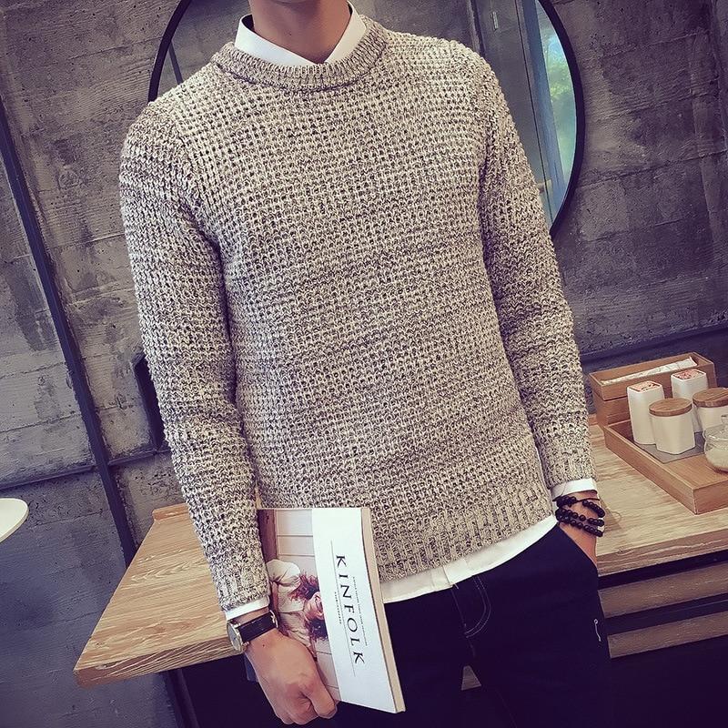 Male Pullover Knitted font b Sweaters b font Cheap Wool font b Men b font font