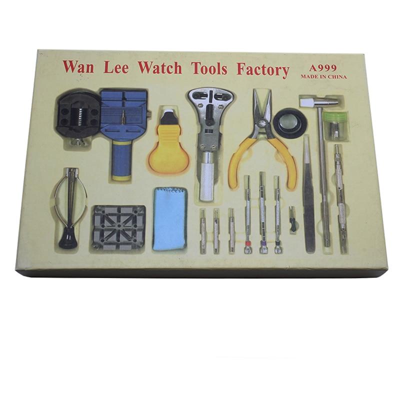 Outils de réparation complets 18/ensemble nouveau outil de table pratique de haute qualité montre kit d'outils de réparation kit d'horloge sangle vers le bas de l'ouvreur