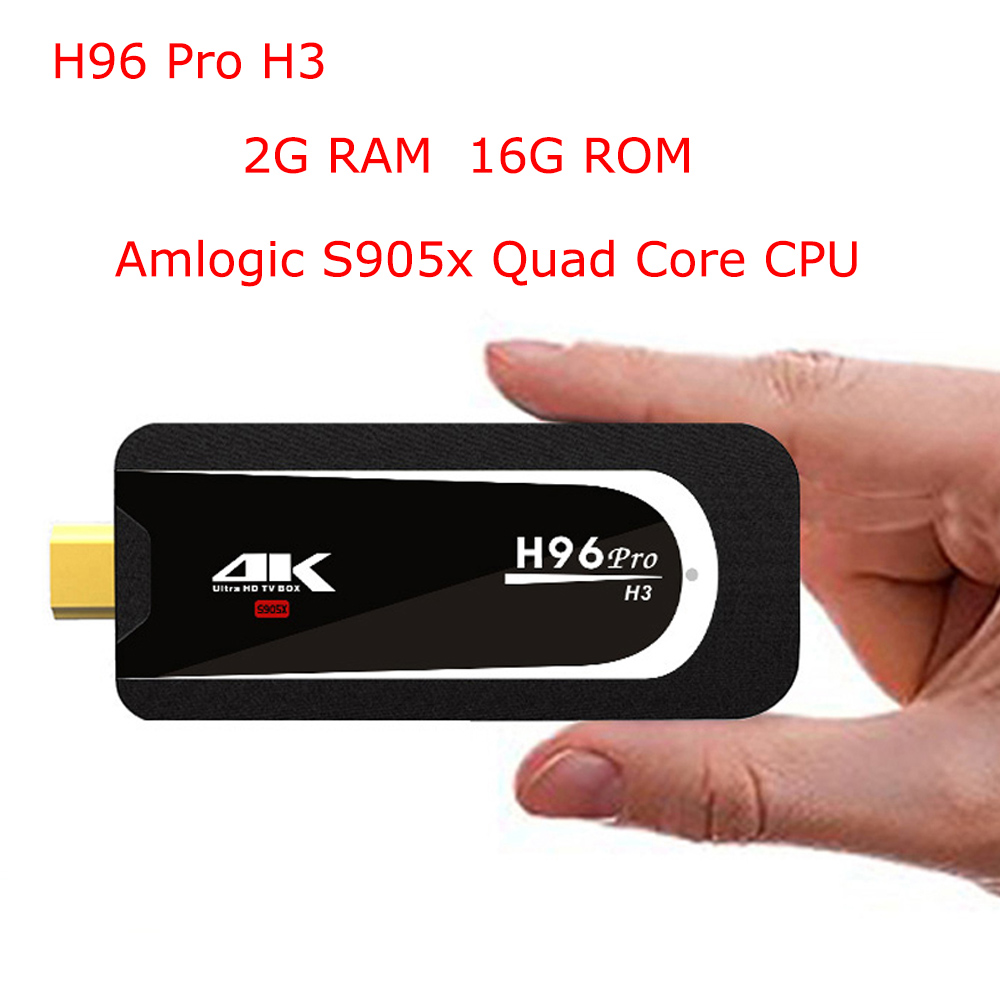 Dongle Android Tv-Stick Mini Pc Amlogic S905x H96 Pro H3 HD 4K Bluetooth-4.0 2G 16G 5G