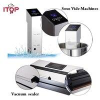 ITOP 2 шт. вакуумный упаковщик + Sous Vide кухонные процессоры погружная плита вакуумная упаковочная машина бытовая ЕС/США вилка 110 В/220 В