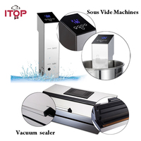 ITOP 2pcs Vacuum Sealer + Sous Vide Food Processors Immersion Cooker Vacuum Packing Machine Household EU/US Plug 110V/220V