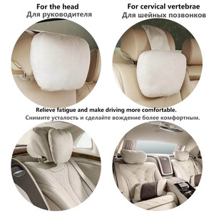 Image 3 - Top Quality Car Headrest Neck Support Seat / Maybach Design S Class Soft Universal Adjustable Car Pillow Neck Rest Cushion