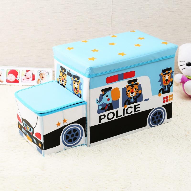 Creative car storage box Storage stool car organizer Trunk storage box car Seat storage bag Cartoon Multi purpose  box-in Stowing Tidying from Automobiles & Motorcycles