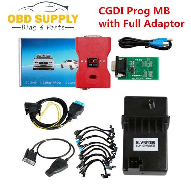 Powerful 2018 CGDI Prog MB Benz Key Programmer Support All Key Lost with Full Adapters for ELV Repair,100% Original cheapest latest arrival benz ir code reader mercedes benz key programmer for reading key data mb key programmer free shipping