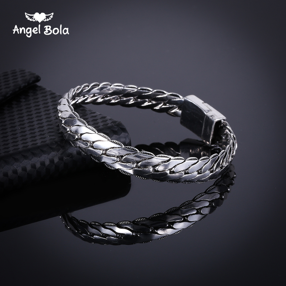25pcs/lot Fashion Biker Womens Ancient Silver Bracelet Chain Wristband Punk Skulls Buddha Motorcycle Link Bangle Free Shipping