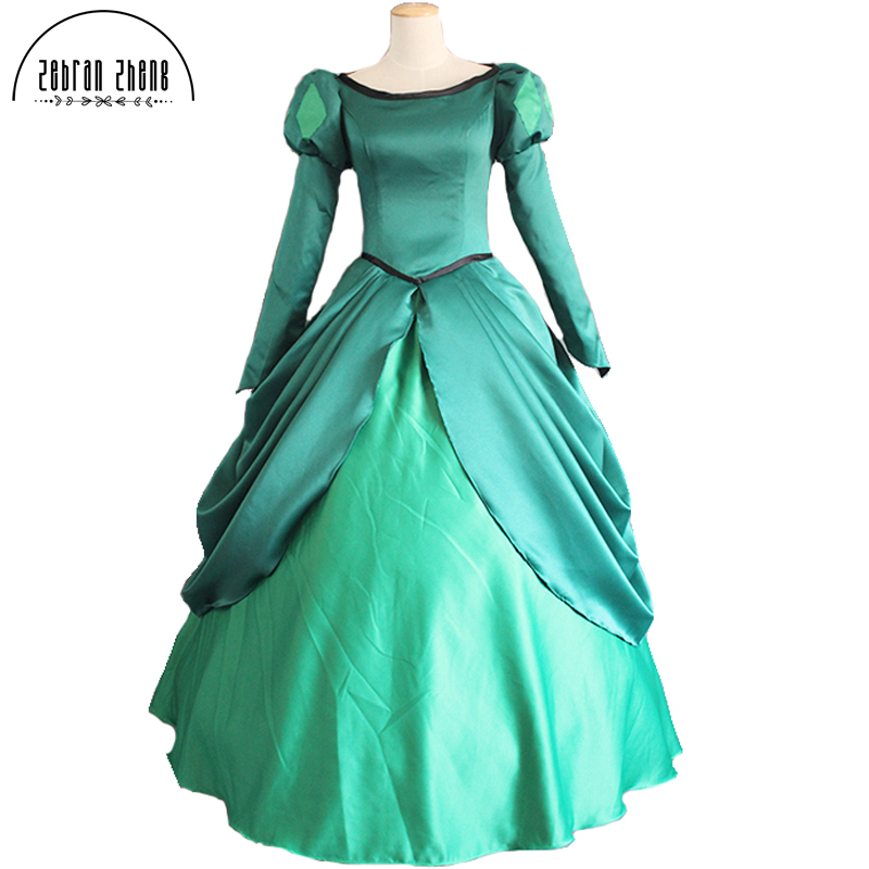 New Arrival The Little Mermaid Ariel Princess Dress Cosplay Costume Fashion Dress For Women Halloween Party Custom-Made the little mermaid ariel princess dress cosplay adult ariel mermaid costume women mermaid princess ariel green dress cosplay